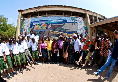TEMA, CENTRE OF THE WORLD, 2009, TEMA, GHANA, WEST AFRICA