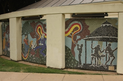 "Kirstin Green Custom Mosaics, ""Concerrt in the Park"" 2002"