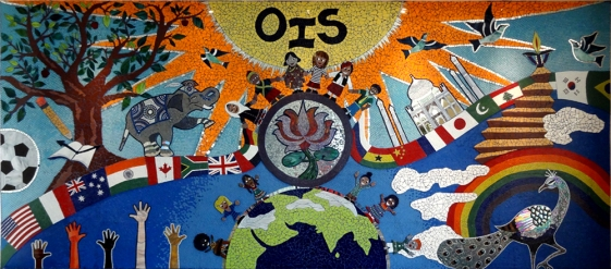 THE WALL OF CELEBRATION, 2012, OBEROI INTERNATIONAL SCHOOL, MUMBAI, INDIA