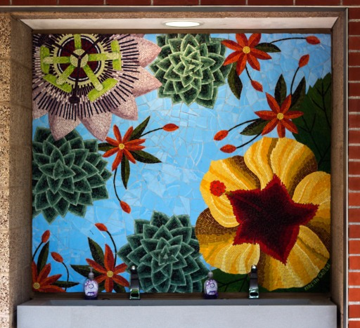 MOSAIC OF FLOWERS: GOLDEN HIBISCUS, 2017, CORONADO CA